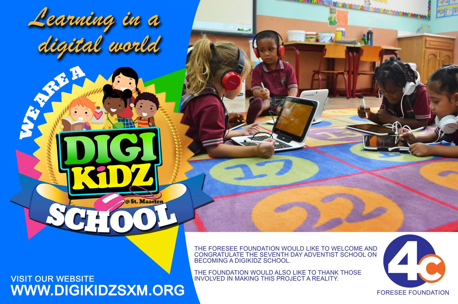 Picture: Launch of Second DigiKidz School: Seventh Day Adventist School, Cole bay