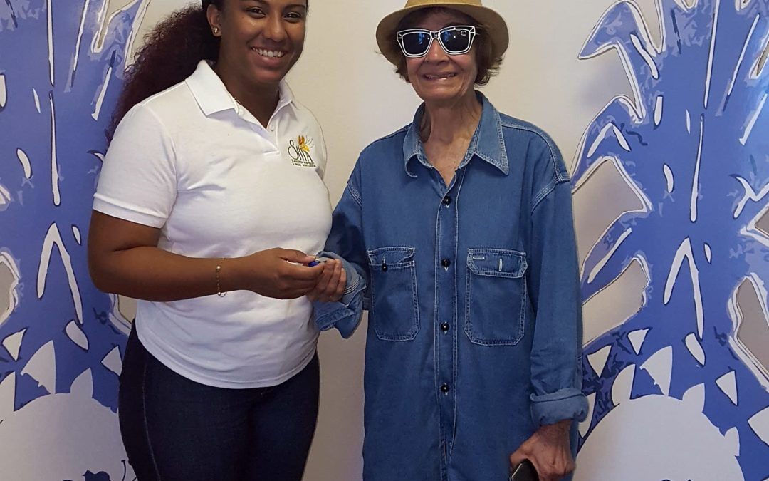 SHTA presents First Crystal Pineapple Movie to Irene Hodge