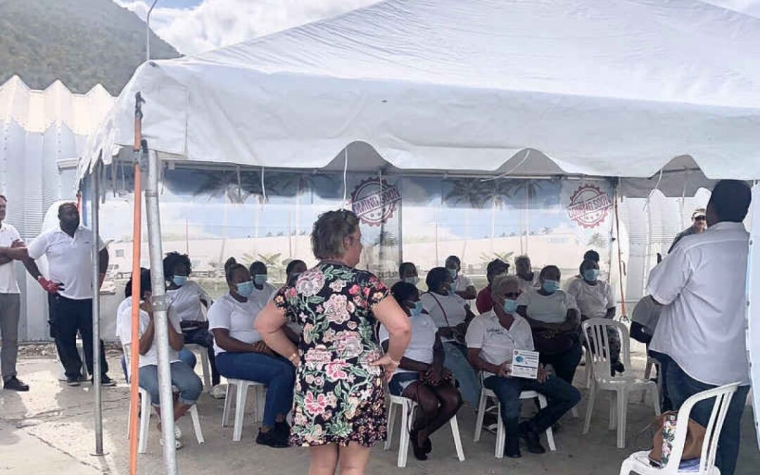 USLAUNDRY staffers get info on COVID-19 vaccine